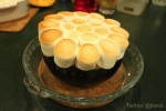 Baked pumpkin with marshmallow topping