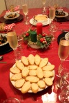Cranberry Brie en Croute served with croutons
