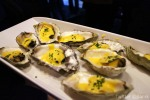Oysters with a warm hollandaisesauce