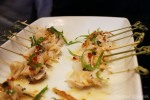 Geoduck skewers in a spicy Asian dressing