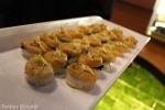 Seared scallops on rice cake
