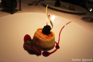 Diva's Caramelized Stilton Cheesecake