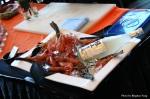 Fresh spot prawn display @ Hapa Izakaya