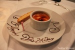 Creme Brulee with birthday inscription