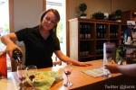 Domaine de Chaberton: Staff pours wine for tasting