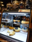 Slices of cheesecake in the showcase