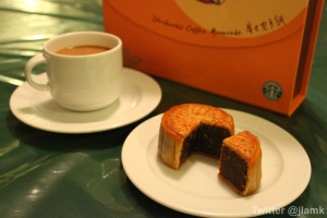 Starbucks Mooncake with Coffee