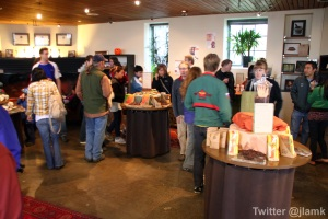Many customers drop by for the tour and to shop