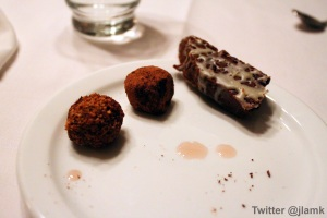 Chocolate Biscottis and Truffles made by culinary arts students