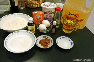 Ingredients for the cupcake
