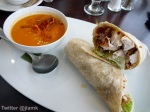 Chicken Caesar Wrap & Carrot+Apple Soup
