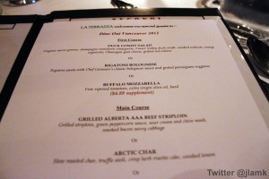 La Terrazza Dine Out Menu