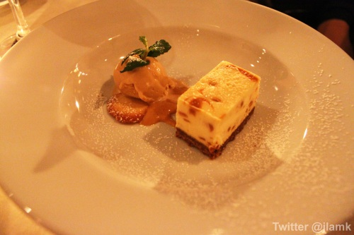 Apple and Caramel New York Style Cheese Cake