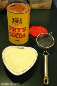 Cocoa powder to finish