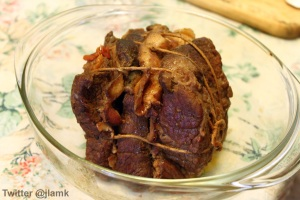 Roast Beef Layered with Bacon