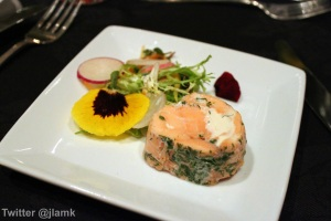 Appetizer: Confit Salmon Roulade