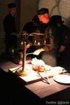 Chefs prepare the dishes