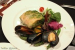 Delizia: Lettuce Wrapped Wild Salmon with Mussels