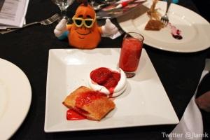 Hyatt: Trio of strawberry dessert