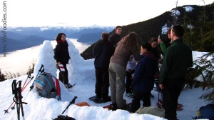 Fondue at the viewpoint