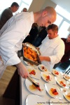 Chefs preparing the first course