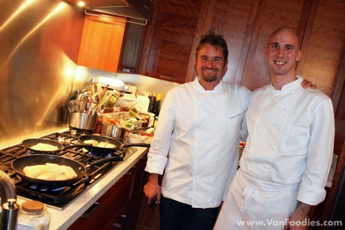 Chef Ned Bell (left) and Sous Chef Tyler