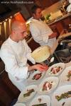 Dressing the dish with cauliflower puree