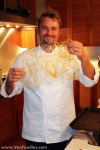 Chef Bell showing off the sugar art