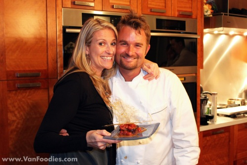 Chef Ned Bell (right) and Host Leah