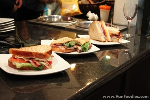 The competing sandwiches