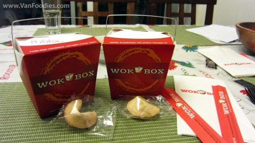 Wok Box Takeout Boxes with Fortune Cookies