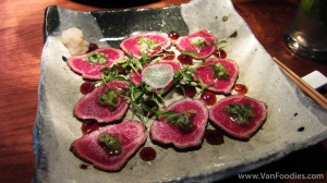 Pemberton Meadows Beef Tataki