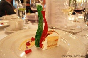 Thyme Infused Roasted Peach Bavarois by Fairmont Empress