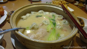 Chicken Hot Pot with Wontons