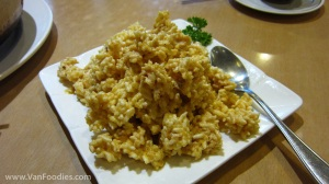 Crispy Rice with Salted Egg Sauce