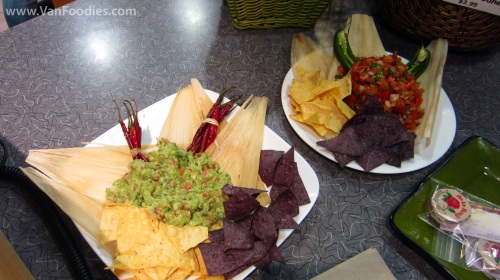 Nachos with Fresh Guacamole and Salsa