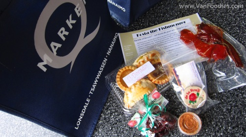 Goodie bag filled with yummy products from participating vendors