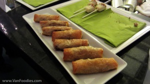 Apple pie phyllo spring roll