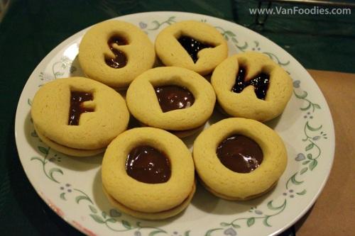 Cookies made for VanFoodies' 2nd anniversary