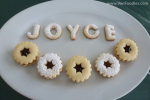 "The ""Joyce"" cookies"