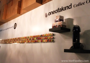 Cool Display at the One of a Kind Coffee Competition Booth