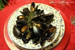 Atlantic Mussels with White Wine & Blue Cheese Sauce