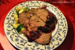 Roasted Leg of Lamb with Zucchini & Blueberry Sauce