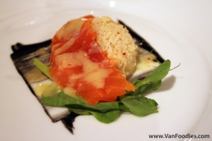 Salt-cured Coho Salmon, Spicy Couscous and Charcoal Aioli
