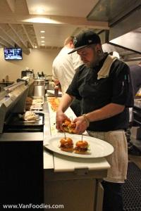 Staff hard at work preparing food