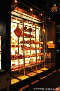 Famous meat display with a Pink Himalayan Salt Wall