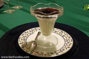 Panna Cotta with Pomegranate Glaze
