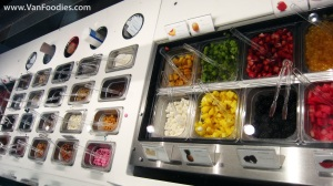 Many different types of toppings