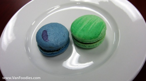 Earl Grey Cassis (left) and Chocolate Guinness Macarons