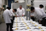 Chefs and students helped prepare the dinner